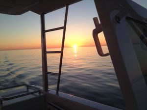 Sunset from the flybridge
