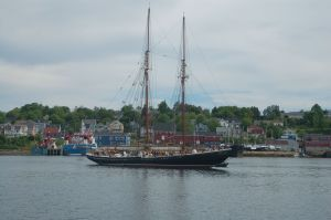 The Schooner Bluenose in Lunenburg