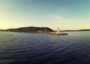 Lighthouse approaching Lunenburg