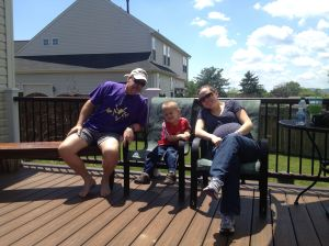 Bradley with Tyler, Margy, and soon-to-be new grandson