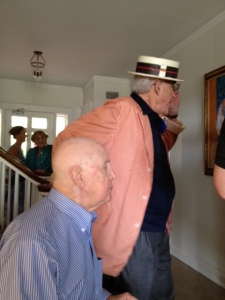 Bradley's Dad and Cousin Barry at Barry's 85th birthday in 2012