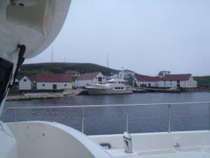 Migration docking at Battle Harbour