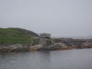 An old boat at Battle Harbour