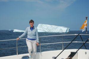 Kathy and an iceberg