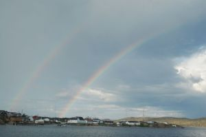 Double Rainbow in Hopedale