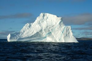 An iceberg up close - beautiful colors!