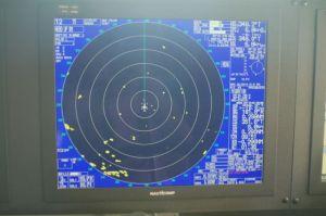 Radar showing nearly 20 icebergs