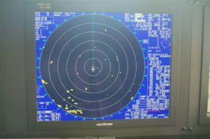 Radar showing nearly 20 icebergs