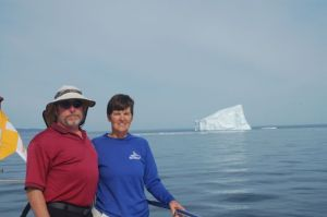 Bradley and Kathy at the iceberg