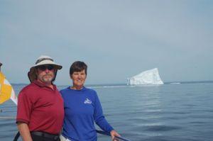 Bradley and Kathy at the iceberg