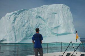 Matt views the berg