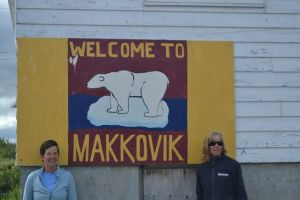 Kathy and Marci in Makkovik