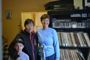 Kathy with Velma and Preston at CIML Radio