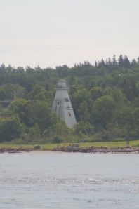 Lighthouse departing Nova Scotia