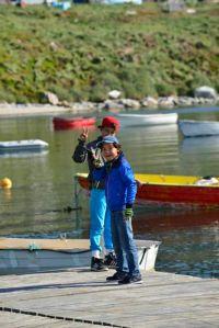 Local boys fishing (photo by Steve D'Antonio)