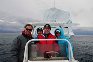 Out for an iceberg tour (photo by Steve D'Antonio)