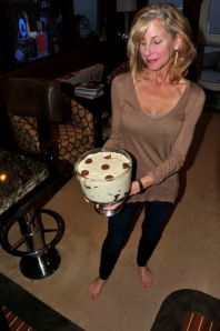Marci with her fabulous brownie and peanut butter dessert (Photo by Steve D'Antonio)