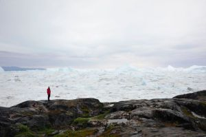 Bradley at the Ilulissat Kangerlua (Photo by Steve D'Antonio)