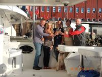 Celebrating arrival in the Arctic Circle andGreenland