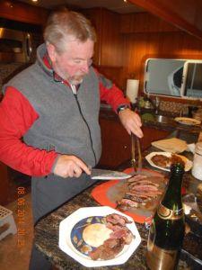 Chef Bradley serves it up