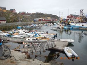 Inner harbor at Sisimiut