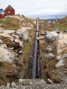 Repairing pipes in Aasiaat