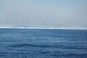 The coast near Ilulissat is a wall of ice!