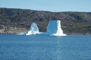 This berg collapsed overnight, making a great commotion