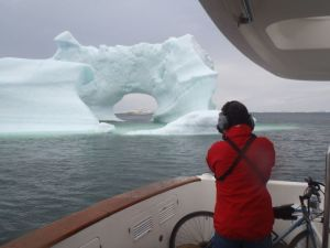 Steve shoots photos of Migration from aboard Shear Madness