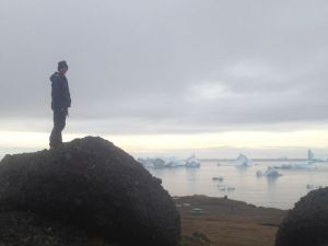 Matt ponders the icebergs