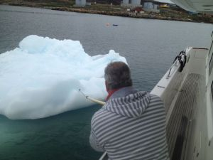 Either the iceberg or the boat moved!