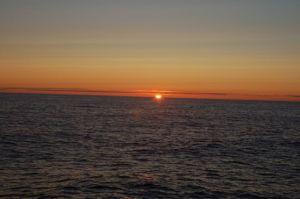 Beautiful sunrise underway