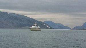 At anchor in Williams Harbour, Labdrador