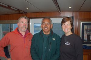 Gary from Parks Canada comes aboard for a visit