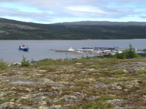 Shear Madness in Makkovik with the Northern Ranger approaching