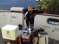 Moving lots of stuff off theboat