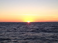 First sunrise of 2015 – between Cape Hatteras and CapeLookout