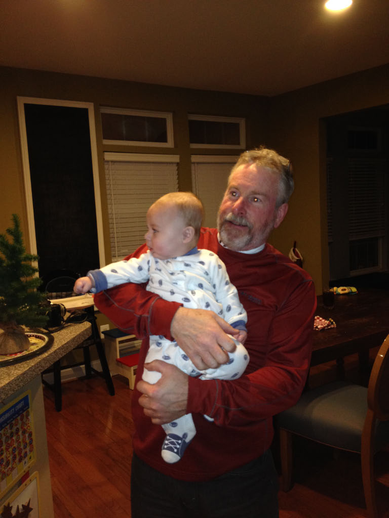 Bradley with newest grandson Austin