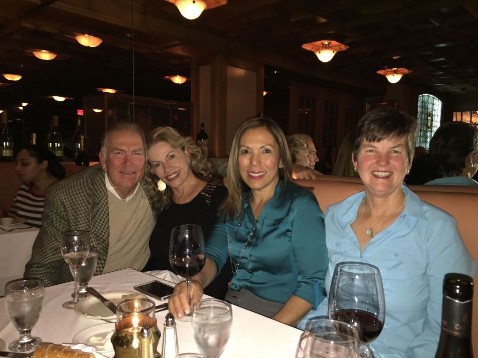 Kathy with high school friends Mike (with wife Barbara) and Becky