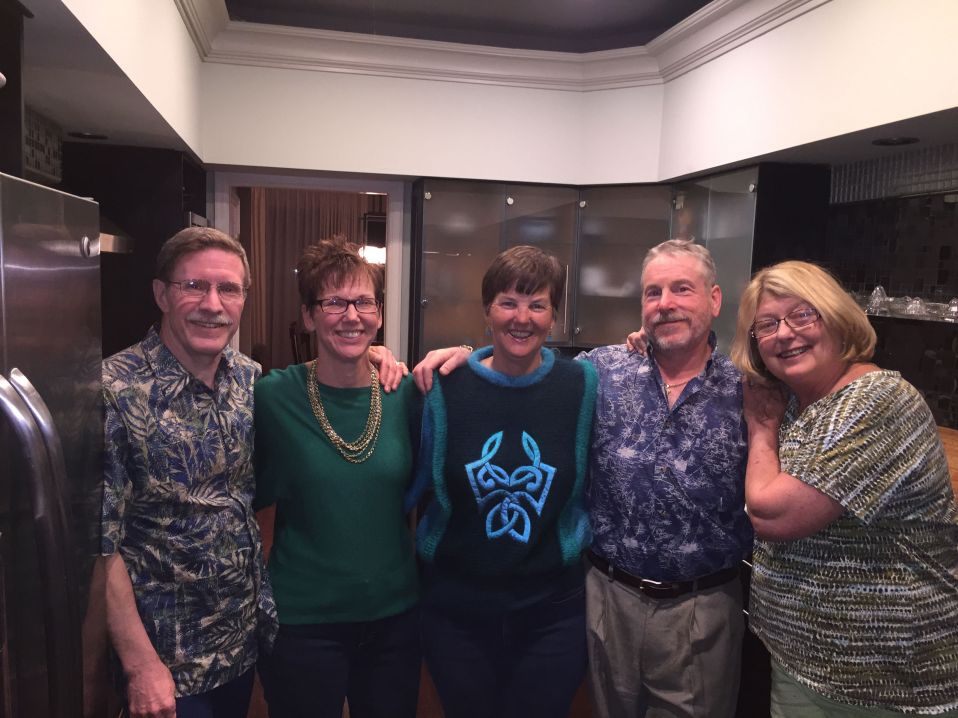 Kathy and Bradley with Kathy's high school friend Cheryll with hubby Dan and our friend Cyndy