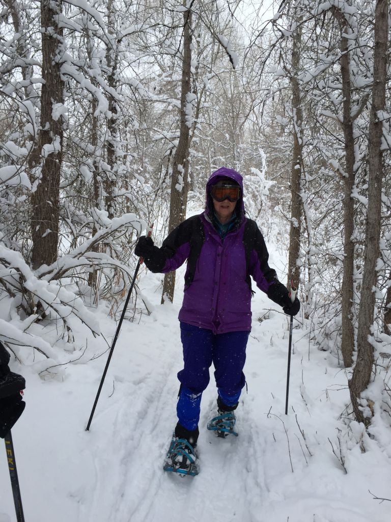 Testing my new snowshoes near Denver
