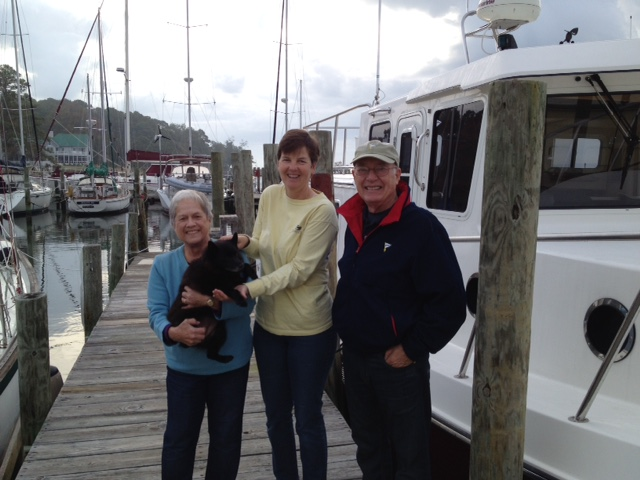Kathy with Judy, Katy, and Milt