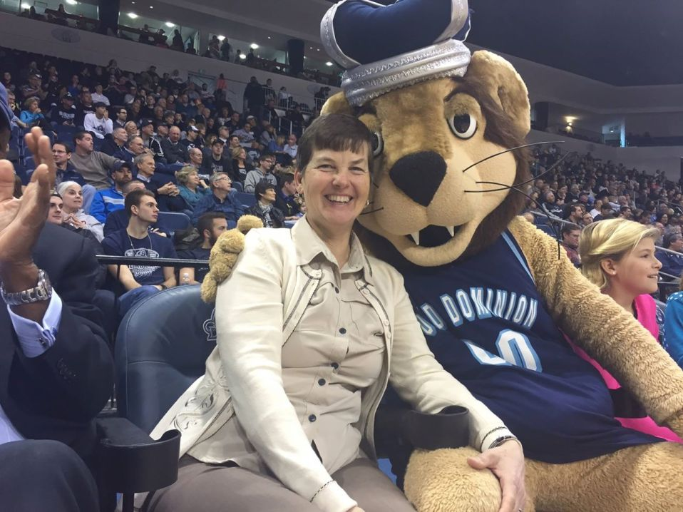 Kathy and the ODU Mascot