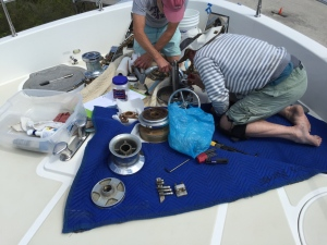 Bradley and Richard Servicing the windlass
