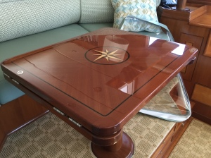 Re-finished pilot house table