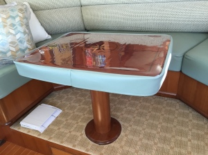 Piot House table with new cover