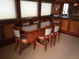 Dining table re-finished by Crystal Coast Interiors