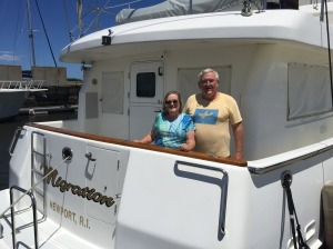 "Tom and Bonnie on the ""other"" Migration, a Nordhavn 47"