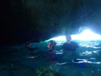 Ben and Amparo in thecave