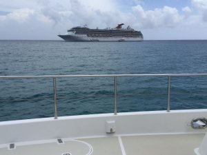 Our neighbor for a few hours - Carnival Pride
